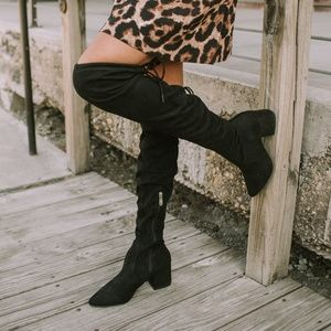 Shoes - FAUX SUEDE Over the knee boot *HOST PICK*